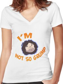 Game Grumps - I'm Not So Grump Women's Fitted V-Neck T-Shirt