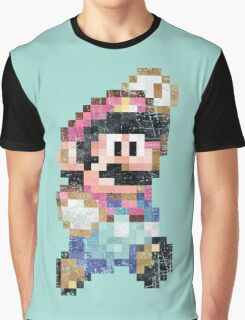 Mario World Jump Vintage Pixels Graphic T-Shirt