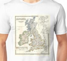 Vintage Map of The British Isles (1855) Unisex T-Shirt