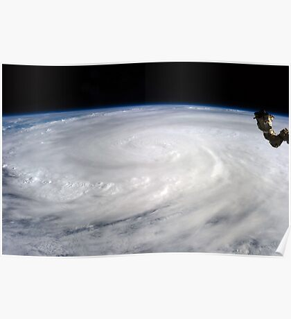 Typhoon Haiyan viewed from International Space Station Poster