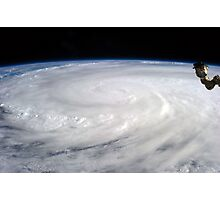 Typhoon Haiyan viewed from International Space Station Photographic Print