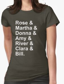 New Who companions - white Womens Fitted T-Shirt