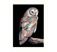 Watercolor and Ink Owl Art Print