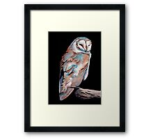 Watercolor and Ink Owl Framed Print