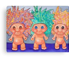 Trolls Mosaic by Jody Wright Canvas Print