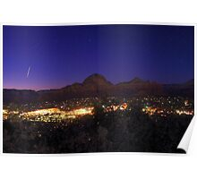 Space Station over Sedona Poster