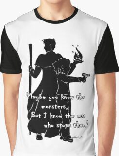 The Man Who Stops Monsters Graphic T-Shirt