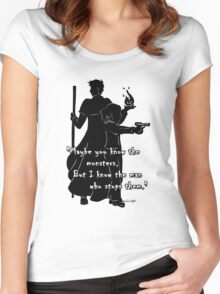 The Man Who Stops Monsters Women's Fitted Scoop T-Shirt