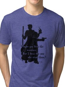 The Man Who Stops Monsters Tri-blend T-Shirt