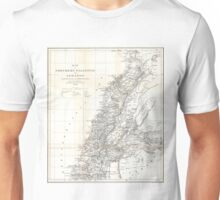 Vintage Map of Lebanon (1856) Unisex T-Shirt
