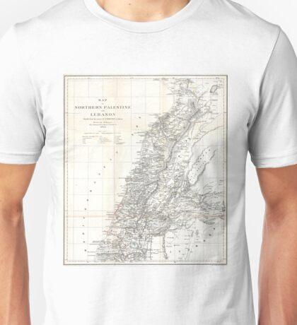 Vintage Map of Lebanon (1856) Unisex T-Shirt