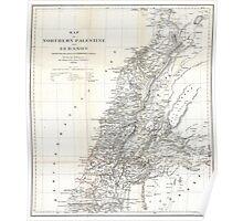 Vintage Map of Lebanon (1856) Poster