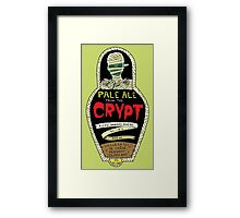 Pale ale from the crypt Framed Print