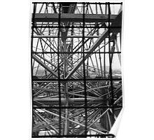 Coney Island Wonder Wheel (Black and White) Poster