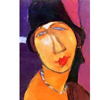 portrait of jeanne hebuterne wearing a hat  Photographic Print