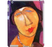 portrait of jeanne hebuterne wearing a hat  iPad Case/Skin