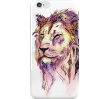 Watercolor and Ink Lion iPhone Case/Skin