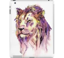 Watercolor and Ink Lion iPad Case/Skin