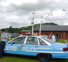 Vintage N Y P D  Police Car by lynn carter