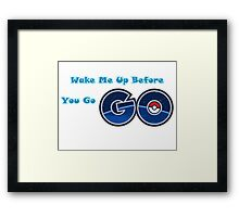 Pokemon go Go Framed Print