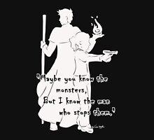 The Man Who Stops Monsters Light Men's Baseball ¾ T-Shirt
