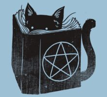 Witchcraft cat - Blue Baby Tee