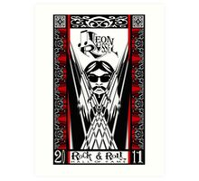 Leon Russell, Rock & Roll Hall of Fame Art by L. R. Emerson II Art Print
