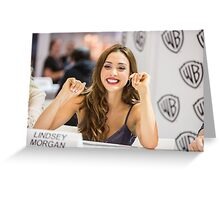 Lindsey Morgan - Comic Con - The 100 Poster Greeting Card