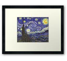 'Starry Night' by Vincent Van Gogh (Reproduction) Framed Print