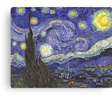 'Starry Night' by Vincent Van Gogh (Reproduction) Canvas Print