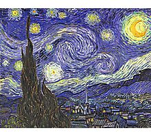 'Starry Night' by Vincent Van Gogh (Reproduction) Photographic Print