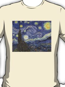 'Starry Night' by Vincent Van Gogh (Reproduction) T-Shirt
