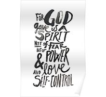 2 Timothy 1:7 Poster