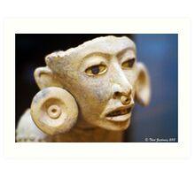 Mayan figure Art Print