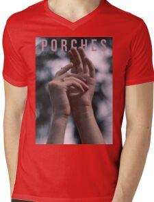 Porches Mens V-Neck T-Shirt