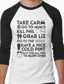 SHAUN OF THE DEAD THE PLAN Men's Baseball ¾ T-Shirt