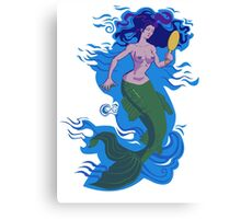 Floating Mermaid Canvas Print