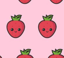 Cute small smiling strawberry pattern Sticker