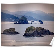 Hay Stack Rock at Cannon Beach Poster