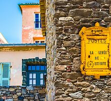 Saint Tropez vintage Post Box and house facades by Bruno Beach