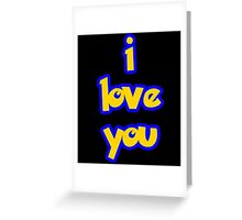 I Love You - POKEMON Greeting Card