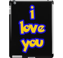 I Love You - POKEMON iPad Case/Skin
