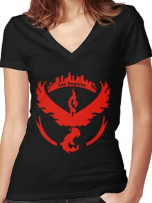 Team Valor Los Angeles P:Go Women's Fitted V-Neck T-Shirt