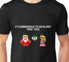 It's dangerous to go alone stitch face Unisex T-Shirt