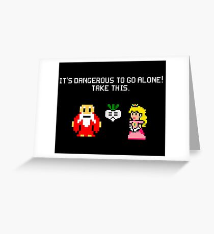 It's dangerous to go alone stitch face Greeting Card
