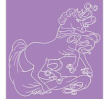 White line Unicorn Photographic Print