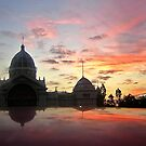 Royal Exhibition Buildings, Melbourne at sunset by Roz McQuillan