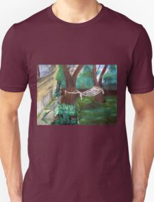 Warm Summer in the Back Yard-En plein air  Unisex T-Shirt