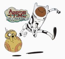 Adventure Time Finn and Jake Robot Kids Tee