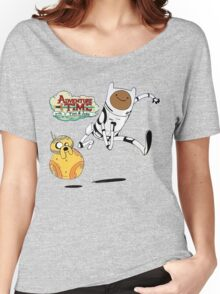 Adventure Time Finn and Jake Robot Women's Relaxed Fit T-Shirt